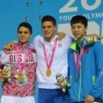 Наша первая олимпийская медаль!!!